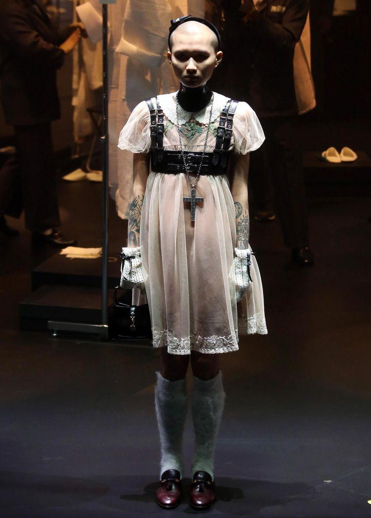 Modeshow Gucci, Milaan.