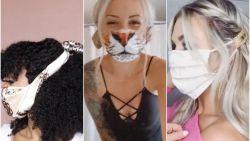 Gespot: hippe haarstijlen mèt mondmasker om je oren te redden van pijnlijke elastiekjes