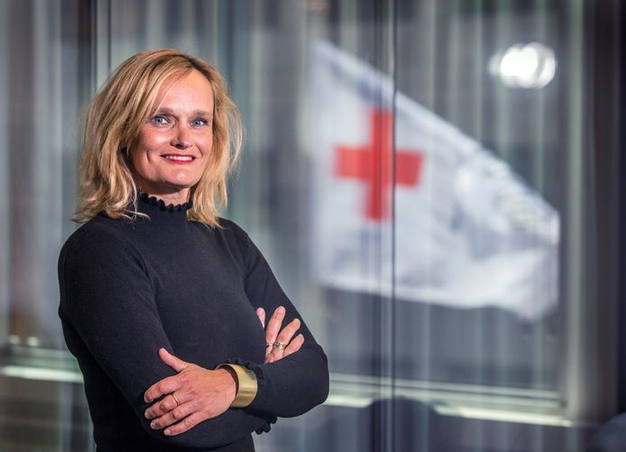 Heleen van den Berg, hoofd Nederlandse hulp van het Rode Kruis.