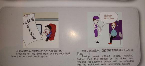 Wie in China op de trein rookt of zonder ticket reist, krijgt naast een boete ook een slechte score in het sociale kredietsysteem.