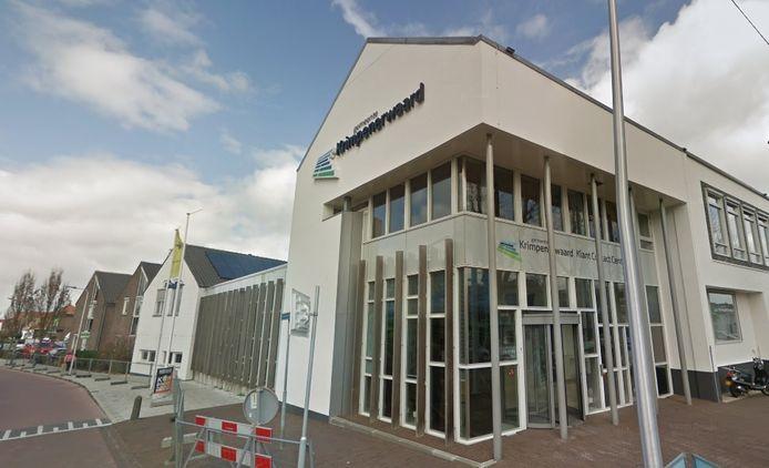 Het gemeentehuis van de gemeente Krimpenerwaard in Stolwijk.
