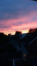 Zonsondergang boven Dedemsvaart.