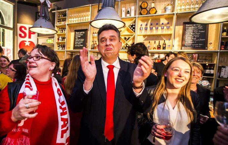 SP-leider Roemer viert de lokale winst. Beeld anp