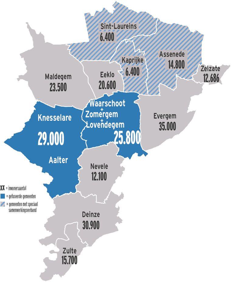 Het Meetjesland zoals we dit nu kennen, ziet er straks anders uit met Aalter (Aalter-Knesselare), het 'Krekenland' met Assenede, Kaprijke en Sint-Laureins én nu ook Waarschoot, Lovendegem en Zomergem samen.