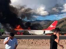 Meerdere gewonden nadat vliegtuig Peru bij landing vlam vat