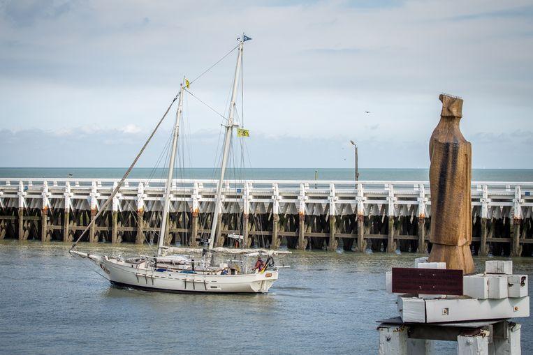 de zeevarenden van onheil. Een groet aan deze houten Blauwvoet in de Havengeul behoedt