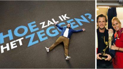 Jens Dendoncker rolt samen met Emmy Award van de bagageband in Zaventem