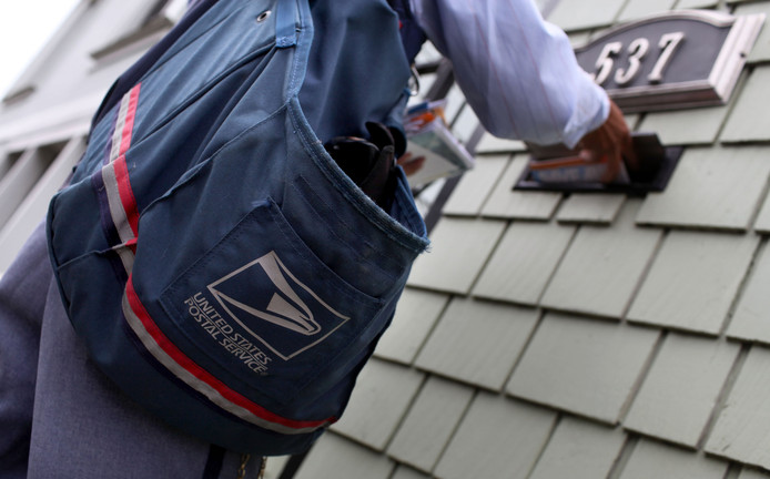 Een postbode in Amerika, foto ter illustratie.