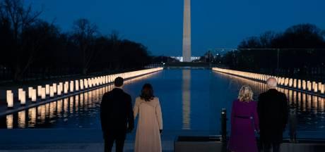Biden herdenkt 400 duizend coronaslachtoffers in Washington