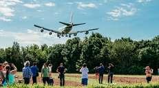 fotoreeks over Wachten op het juiste moment: Air Force One-spotters