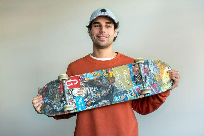 Skateboarder Douwe Macaré