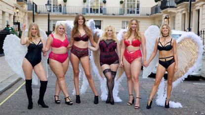 Diverse modellen verzamelen voor fotoshoot als protest tegen Victoria's Secret