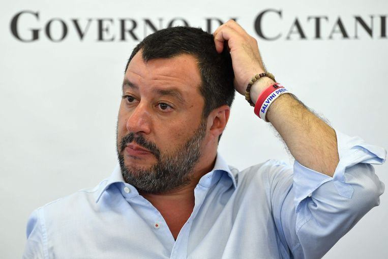 Vicepremier Salvini wil snel nieuwe verkiezingen in Italië.