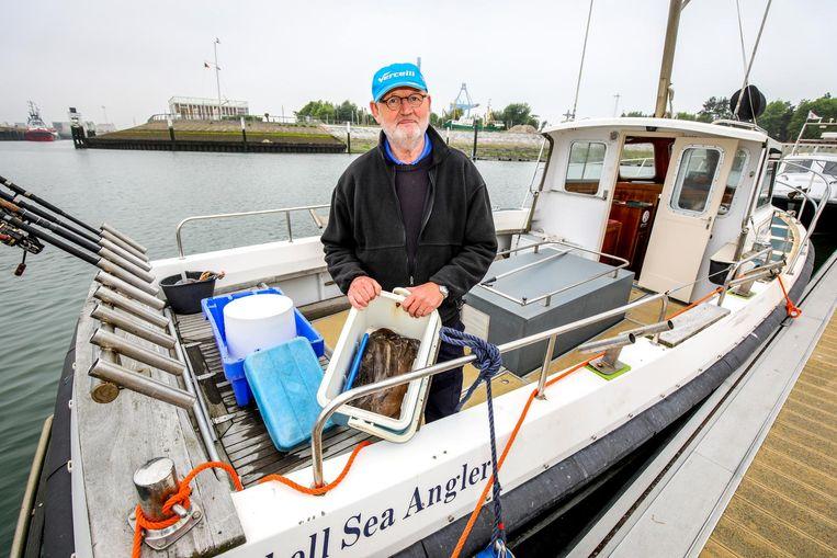Sportvisser Daniel Wintein zit al 60 jaar op zee.