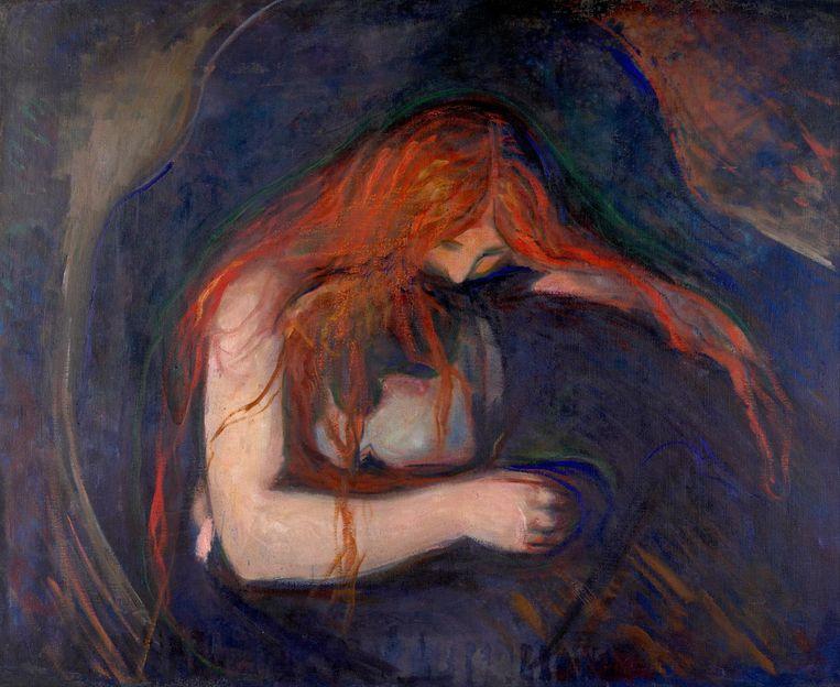 Vampyr (1893) van Edvard Munch. Beeld