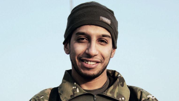 Abaaoud, afgelopen februari in IS-glossy Dabiq. Beeld Dabiq