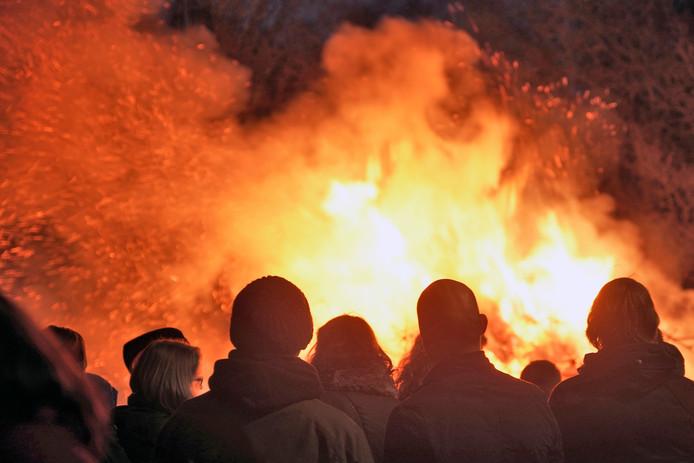 Mook en Middelaar was de enige gemeente in de regio met een kerstboomverbranding.