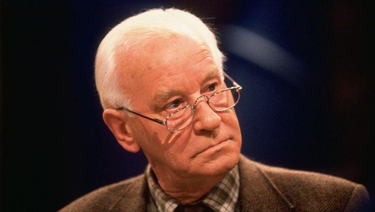Tekstschrijver en oud-Elsevier-journalist Michel van der Plas is zondag op 85-jarige leeftijd overleden in zijn woonplaats Leidschendam. Beeld ANP Kippa