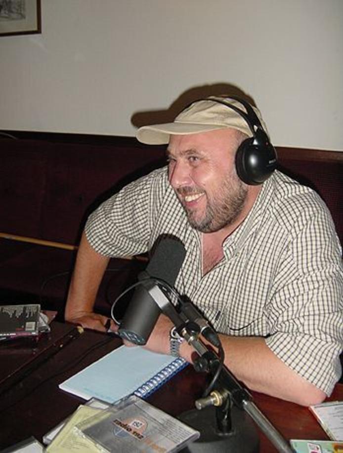 Persfoto van radio DJ Peter van Dam