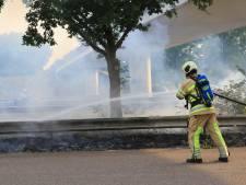 Bermbrand langs de A1 in Hoogland: automobilisten gewaarschuwd voor rook
