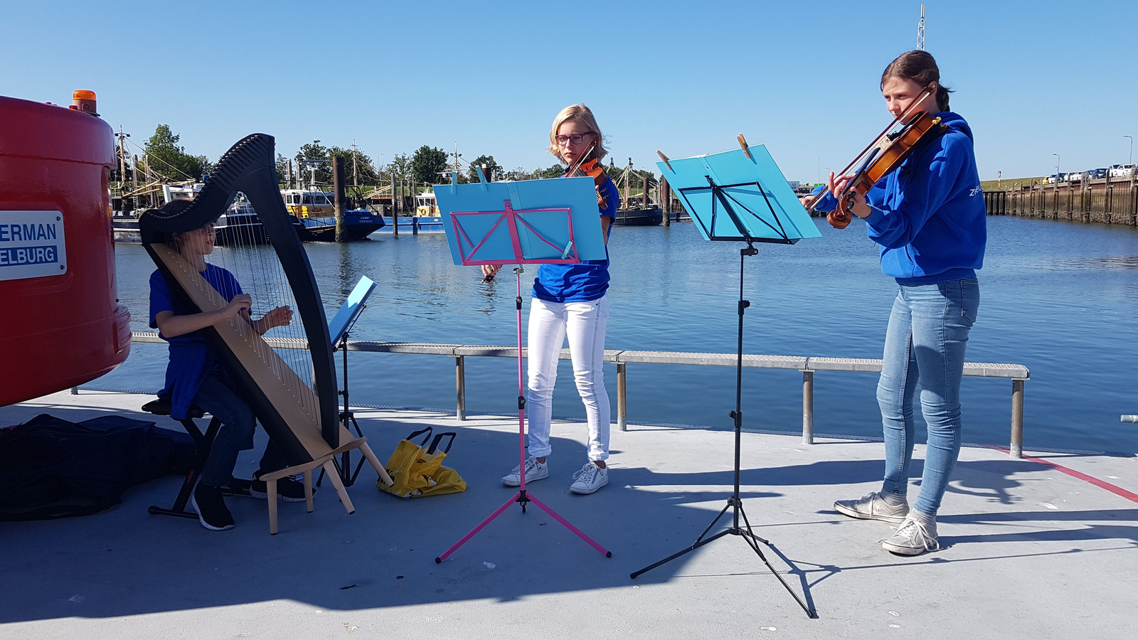 Leden van het Zeeuws Jeugdorkest zorgden voor een muzikale noot.