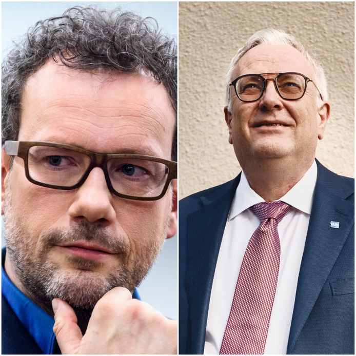 Dave Sinardet (l.) en Dirk Devroey (r.).