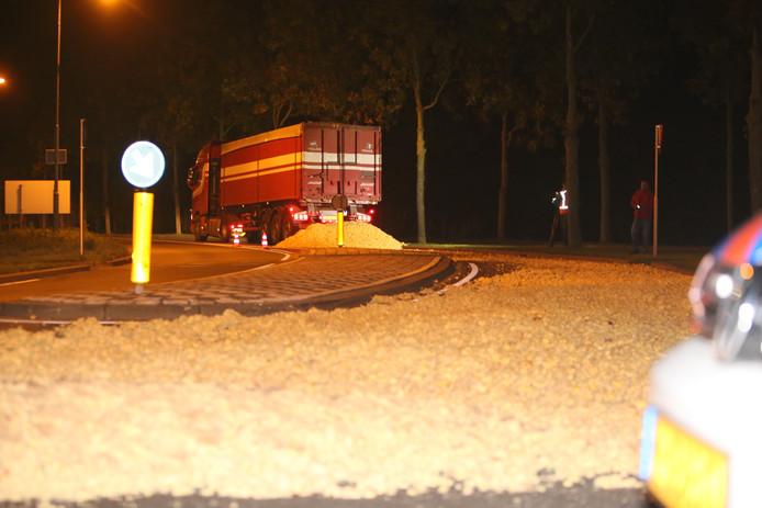 Het spoor van piepers over de Sluisweg in Den Bosch.