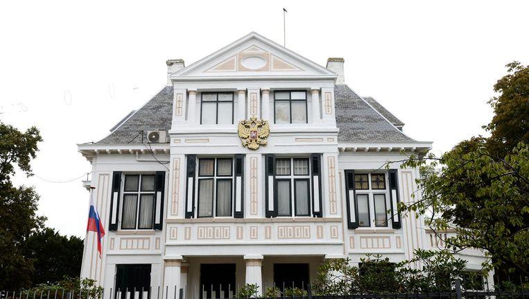 Exterieur Russische ambassade aan de Scheveningseweg in Den Haag. Beeld anp