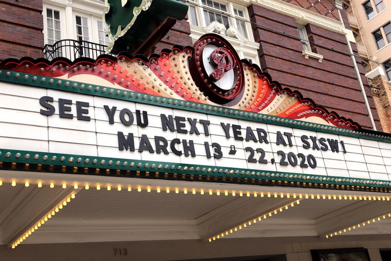 Aankondiging voor SXSW van vorig jaar.  Beeld Shelley Hiam