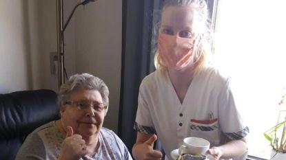 Personeel Zorgdorp De Pastorij maakt zelf mondmaskers