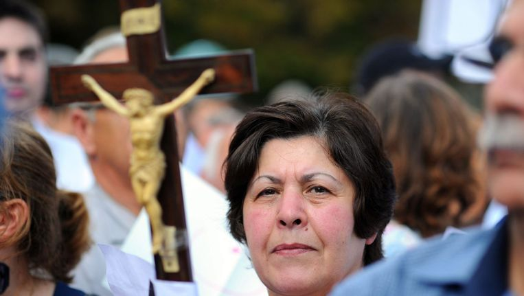 In Parijs kwamen vorige week honderden demonstranten de straat op uit solidariteit met de verjaagde christenen in Irak.