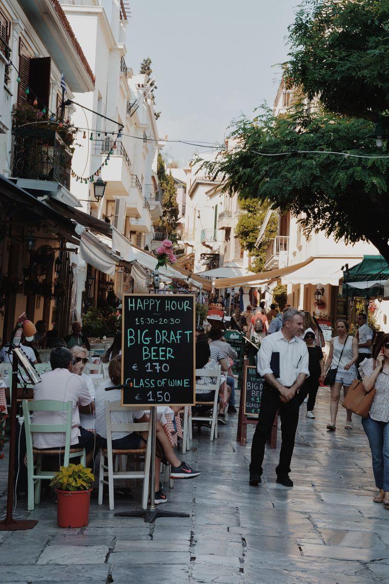 Terrasjes in Athene.
