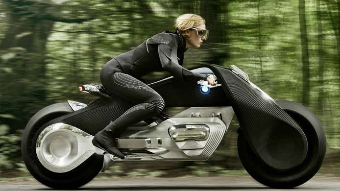 Dit studiemodel van een toekomstige motorfiets van BMW zit al vol slimme elektronica