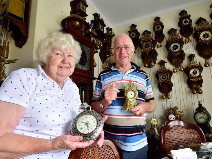 Zoals de 300 klokken bij Louwerens en Joke Vos uit Moordrecht tikken, tikken ze nergens...