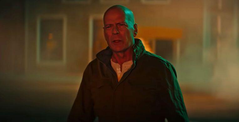 Bruce Willis in de Die Hard-achtige commercial. Beeld