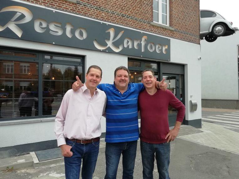 Chef-kok Karl Vandenbossche, eigenaar Johan Vandenbossche en kok Wim Verhulst.