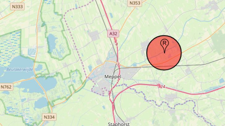Luchtruim boven boerderij Ruinerwold is nu no-flyzone: 'Een zorgelijke maatregel'