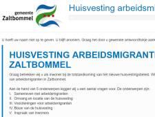 Enquête over huisvesting van arbeidsmigranten in Zaltbommel nog twee dagen in de lucht