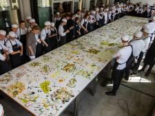 Eetbaar schilderij in Oisterwijk: 26 vierkante meter aan lekkers