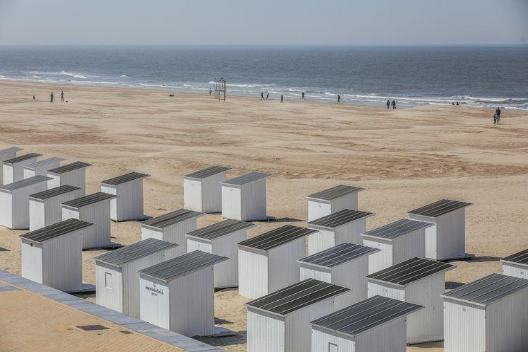 In Oostende staan deze strandcabines al klaar.
