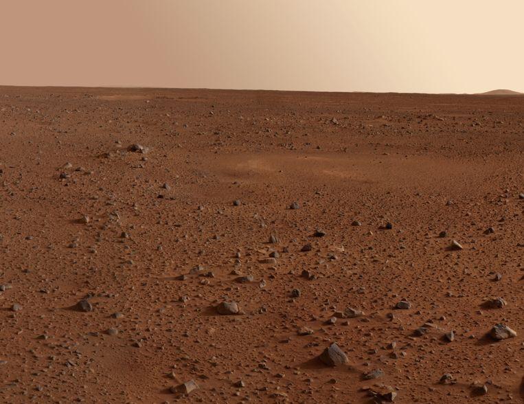 De rode atmosfeer van Mars. Beeld thinkstock