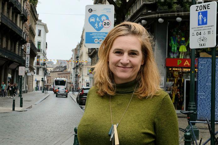 Elke Van den Brandt (Groen), Brussels minister van Mobiliteit.