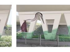 Schildering  met vogels en dieren bij viaduct Bels Lijntje