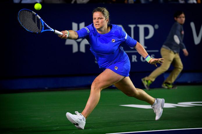 Kim Clijsters werd in twee sets verslagen door de Britse Johanna Konta.