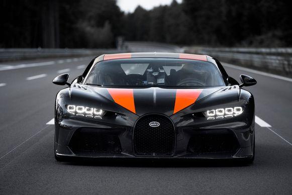 De recordauto van Bugatti.