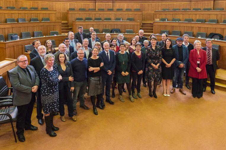 De nieuwe provincieraad.