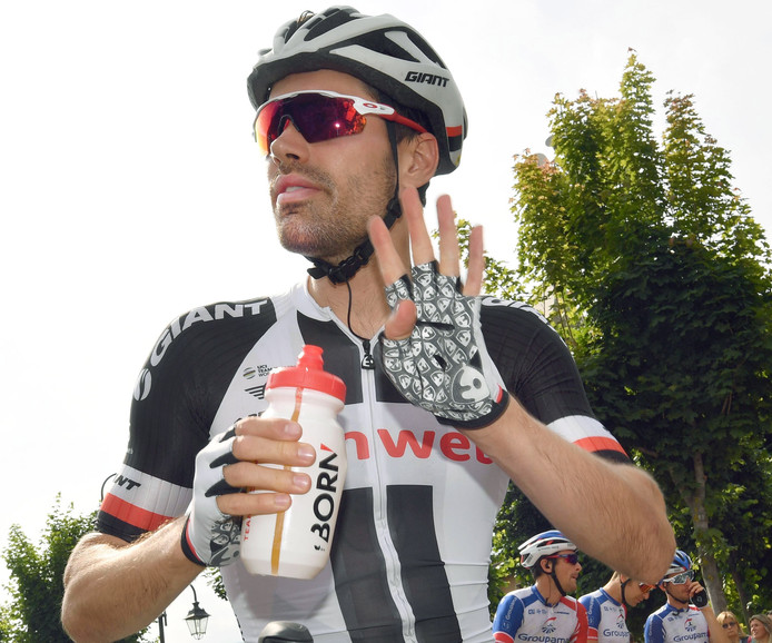 Dumoulin bij de start.