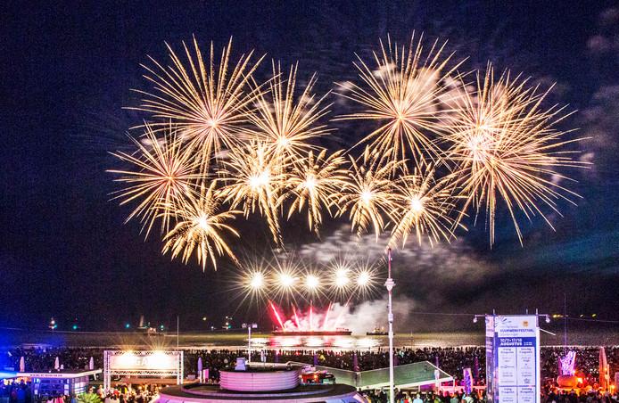 Internationaal vuurwerkfestival Scheveningen.