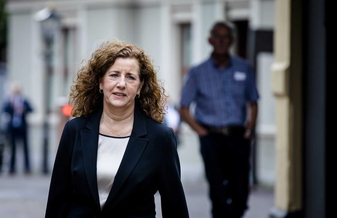 Minister Ingrid van Engelshoven van Onderwijs, Cultuur en Wetenschappen (D66) op het Binnenhof.