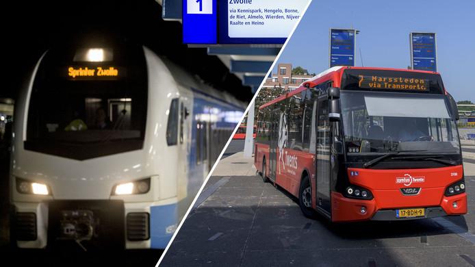Keolis rijdt met treinen (Blauwnet) en bussen (Twents) door deze regio